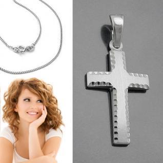 Männer Frauen Kinder Kreuz Anhänger aus Echt Silber 925 mit Kette Länge wählbar