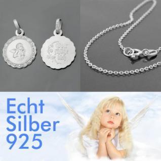 Schutzengel Silber Gott schütze Dich Kette