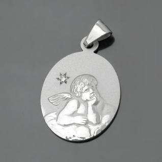 Diamant Schutzengel Anhänger mit Kette Silber - Vorschau 2