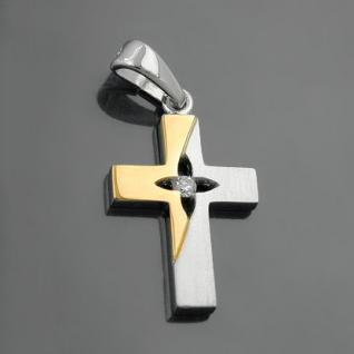 Kinder Kommunion Kreuz Silber vergoldet - Vorschau 2