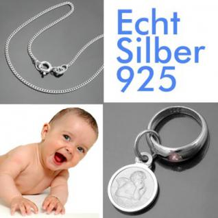 Taufring mit Sternzeichen Krebs und Schutzengel Echt Silber 925 mit Kette - Vorschau 2
