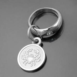 Taufring mit Sternzeichen Krebs und Schutzengel Echt Silber 925 mit Kette - Vorschau 1