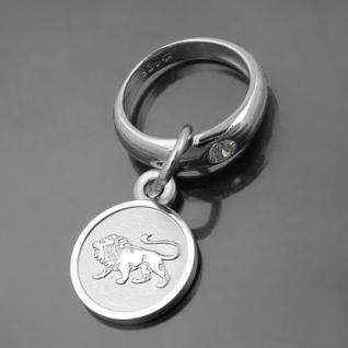 Taufring mit Sternzeichen Löwe und Schutzengel Echt Silber 925 mit Kette - Vorschau 1