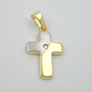 Kinder Kreuz Anhänger Gold 333 - Vorschau 2