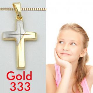 Kinder Kommunion Kreuz Anhänger Gold 333