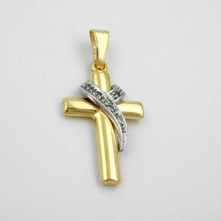 Kommunion Kreuz Anhänger Gold 333 - Vorschau 2
