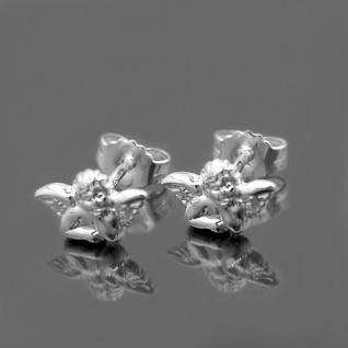 Mädchen - Damen Schutzengel Kommunion Ohrstecker Engel Ohrringe Echt Silber 925 - Vorschau 2