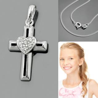Kommunion Konfirmation Kreuz Anhänger Silber