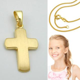 Kommunion Kinder Kreuz Echt Gold 333