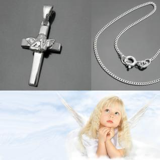 Kommunion Konfirmation Kreuz Anhänger Silber - Vorschau 1