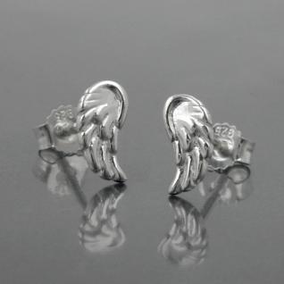 1 Paar Engel Engelsflügel Mädchen Ohrstecker Kinder Echt Silber 925 Ohrringe Neu - Vorschau 2