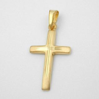 Kommunion Kinder Kreuz Echt Gold 333 - Vorschau 2