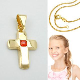 Kommunion Kinder Kreuz Echt Gold 585 - Vorschau 1