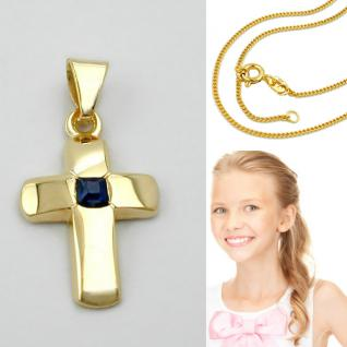 Kommunion Kinder Kreuz Echt Gold 585