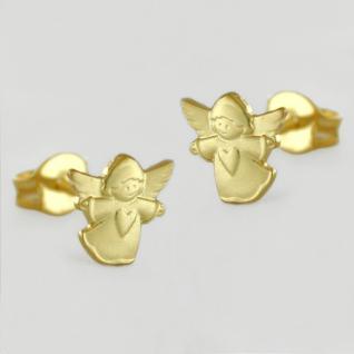 Schutz Engel Ohrstecker Gold 333