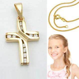 Kommunion Kinder Kreuz Echt Gold 333 - Vorschau 1