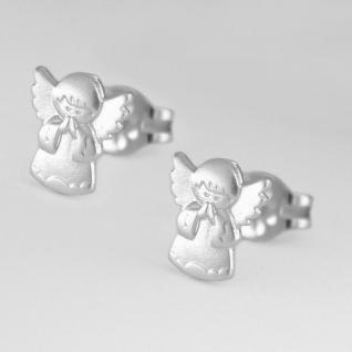 Mädchen betende Hände Engel Ohrstecker Kinder Ohrringe aus Echt Silber 925 Rhod.