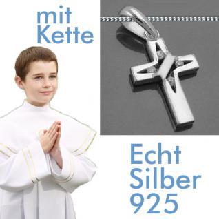 Kinder Kommunion Konfirmation Kreuz Anhänger Silber - Vorschau 1