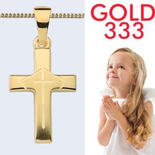Kinder Anhänger Kreuz Gold 333 - Vorschau 1
