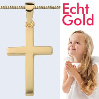 Kinder Kreuz Echt Gold 333 Anhänger