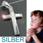 Silber Kreuz Anhänger mit Kette