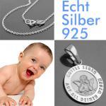 Kinder Schutzengel Kette Silber