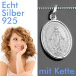 wundertätige Madonna Milagrosa Silber Kette