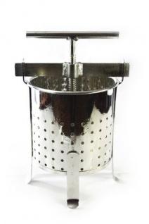 Stabile Spindelpresse mit 4, 6 Liter Volumen, stabile Metall Ausführung