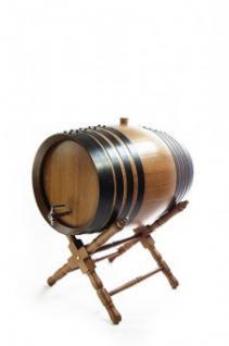 Holzfass mit Ständer 4 Liter, dunkel, Eiche gekohlt