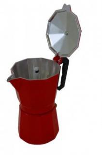 """"""" Krüger"""" Espressokanne, rot für 3 Tassen"""