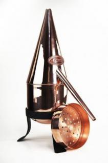 """"""" CopperGarden®"""" Rosenhutdestille Hennin (0, 5L) & Sieb zur Geistherstellung"""