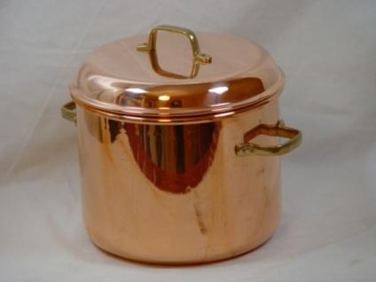 """"""" CopperGarden"""" Kupfertopf 12L, glatt mit Griffen & Deckel - Vorschau 3"""