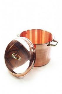 """"""" CopperGarden®"""" Kupfertopf 8L, glatt mit Griffen & Deckel"""