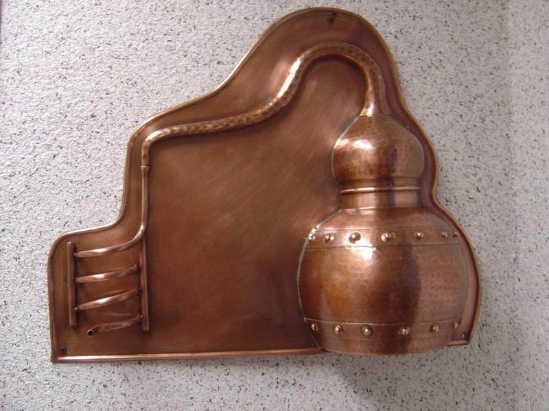 coppergarden wandlampe aus kupfer oxidiert kaufen bei unicobres gmbh co kg. Black Bedroom Furniture Sets. Home Design Ideas