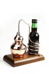 """"""" CopperGarden®"""" Flaschenhalter Alembik auf Holz"""