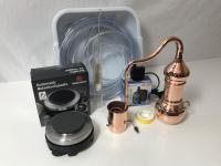 """"""" CopperGarden®"""" Kolonnenbrennerei 0, 5L electric 500 im Set mit Pumpe"""