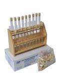 SET: Reagenzglasgestell XXL & 100 Reagenzgläser & Zubehör