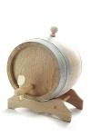 Holzfass mit Ständer 10L, Eichenholz natur, trocken