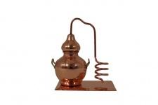 """"""" CopperGarden®"""" Miniaturdestille Alembik mit Kühlspirale & Kupferplatte"""