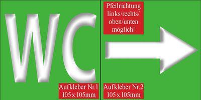 Hotel Bar Pfeil 00 WC Toilette Bad Tür Hinweis Schilder Schild Sticker Aufkleber