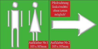 Hotel Bar 00 WC Toilette Bad Pfeil Tür Hinweis Schilder Schild Sticker Aufkleber