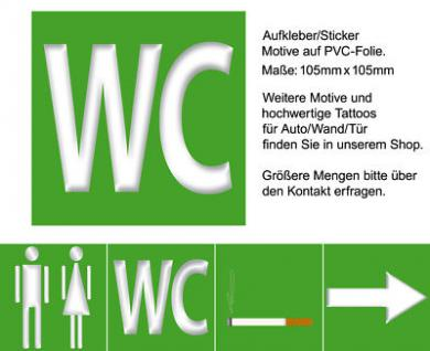 Toilette 00 WC Tür Hinweis Hotel Bar Büro Einrichtung Zubehör Aufkleber Sticker