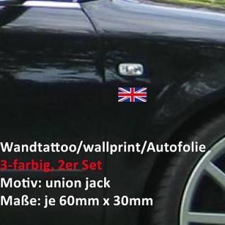 2x british GB England mod UK union jack car wall window foil sign decal 3 color