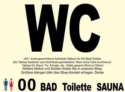 WC Bad Klo 00 Tür Wand Hotel Wandtattoo Aufkleber Sticker Türaufkleber Türdeko