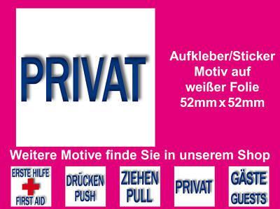Hinweis Privat Schrank Regal Zimmer Bad WC 00 Wand Tür Fliesen Aufkleber Sticker
