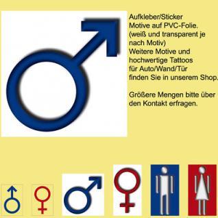 00 WC BAD Toilette Tür Fliesen Mamm man Zeichen Symbol Aufkleber sticker sign