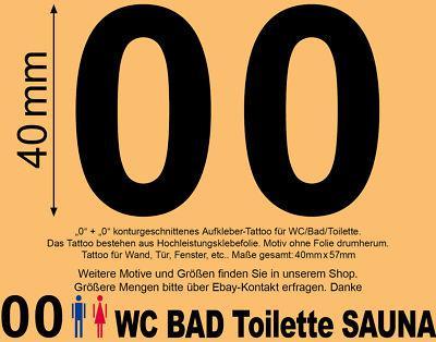 Toilet WC 00 Symbol Toilettentür Tür Eingang Aufkleber Sticker Tattoo Wandtattoo