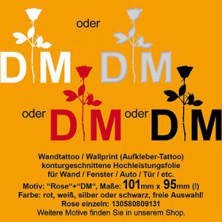 DM Depeche Mode Violator Rose Auto Wand Fenster Deko Aufkleber Folie Wandtattoo