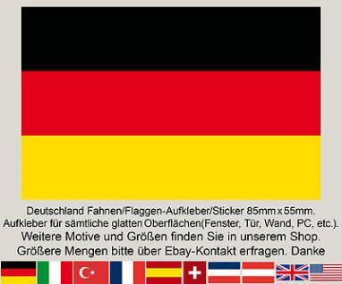 3 BRD Deutschland Fahne Flagge WM EM Fußball Aufkleber Sticker Deutschlandfahne