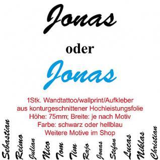 Jonas kinder namen namensschild tür wand schriftzug aufkleber tattoo